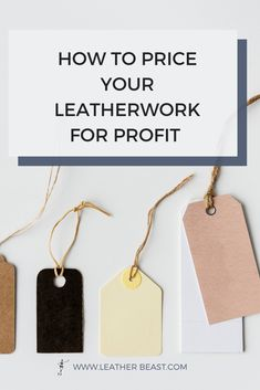 How To Price Your Leatherwork for Profit — Leather Beast Leather Gifts, Leather Jewelry, Leather Craft, Handmade Leather, Leather Bags, Leather Tooling, Leather Carving, Diy Leather Projects, Leather Tutorial