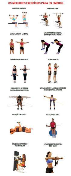 Apresentamos os melhores exercícios de musculação para os ombros. Com esses exercícios você fará um treino de ombros completo.