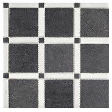 Black And White Forum Honed Slate Mosaic Mosaic Marble Mosaic Floor Decor