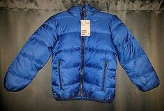 H&M NWT Blue Kids Padded Winter Coat Puffer Jacket sz 6/7