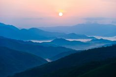 Laos sunrise...Sunrise in Phongsali Mai district Northern Laos by Ari Vitikainen on 500px.
