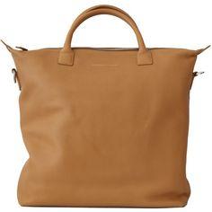 Want Le Essentiels De La Vie O'Hare Leather Shopper Tote, Tan/Lake ($795) ❤ liked on Polyvore