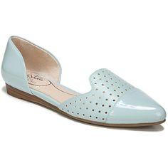 LifeStride Quiz Women's Flats (1.235 CZK) ❤ liked on Polyvore featuring shoes, flats, blue, blue flats, slip-on shoes, blue slip on shoes, slip on flats and perforated flats
