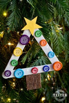 DIY Kids Christmas Tree Ornaments #diy #christmasornament #crafty