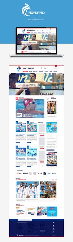 FNN - French Swimming League - redesigned Concept by Manuel Vélin, via Behance