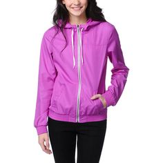 If you're looking for a jacket that stands out for all the right reasons, look no further. The girls Bright Purple windbreaker jacket from Zine is all about keeping your style on point. Coming in a vibrant neon purple colorway, this jacket has a zippered front closure, adjustable drawstring hood, elastic cuffs and waistband, and two front pockets, giving you just the right amount of functionality to go with the visual appeal. The Zine Girls Neon Pink windbreaker is perfect for spicing up…