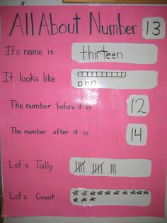 Would be great as a laminated anchor chart so it can be written on with a dry erase marker and changed as needed without taking up the whole classroom for every number!