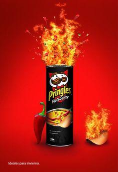 Pringles Hot & Spicy Snack Ad