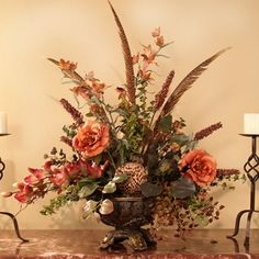silk flower arrangements for home | Designer Silk Floral Arrangement AR233-120 : Floral Home Decor, silk ...