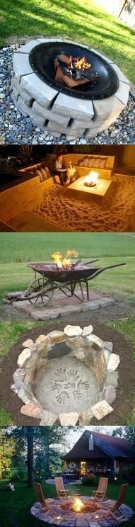 47 Incredible DIY Fire Pit Design Ideas I find myself thinking more and more about our backyard and how we can make it a truly enjoyable, fun and relaxing space. Very top on my list is to create some sort of DIY fire pit. Outdoor Projects, Home Projects, Lawn And Garden, Home And Garden, Jardin Decor, Diy Fire Pit, Fire Pits, Outdoor Fun, Outdoor Decor