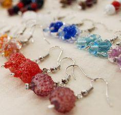 Lampwork earings by Sara Cardina