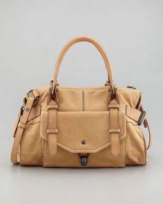 Kendal Leather Satchel Bag, Camel by Kooba at Neiman Marcus.