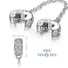 NinaQueen Love Connection 925 Sterling Silver pandora safety chain charm bead for women fit pandora charms bracelet Christmas Gifts Birthday gifts san valentines Mothers Day Anniversary Wedding Gift For Mom Mother Wife Daughter Friend Girl Sister Gifts, Best Friend Gifts, Gifts For Kids, 21st Birthday Quotes, Mom Birthday Gift, Pandora Jewelry, Pandora Charms, Girl Sleepover, Birthday Party Snacks