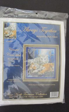 Always Together Tigers Counted Cross Stitch KIT 99057 Near North Treasures 2003 Counted Cross Stitch Kits, Tigers, Picture Frames, Amazon, Friends, Shop, Ebay, Things To Sell, Portrait Frames