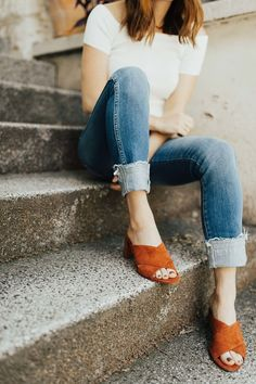 48 Magical Casual Style Ideas To Look Cool And Fashionable - Fashion New Trends Mode Style, Style Me, Spring Summer Fashion, Autumn Fashion, Capsule Wardrobe, Look Cool, Denim Jeans, Cuffed Jeans, Dame