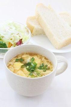 超簡単!「ふわふわとろ~りたまごスープ」