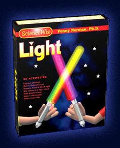 Science Wiz : Light and Optics Science Kit on light sources, mix and split light, includes prism and lenses, reflection and refraction, a ca...
