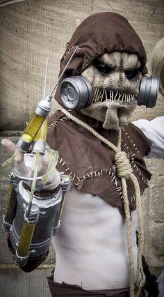 Jonathan Crane) - Arkham Asylum by on DeviantArt Halloween Boo, Halloween 2017, Halloween Crafts, Halloween Decorations, Halloween Ideas, Scarecrow Cosplay, Scarecrow Batman, Dr Jonathan Crane, Cosplay Costumes