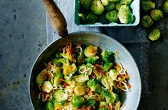 An ideal way to use up leftover sprouts this quick easy and healthy stir fry packs a fragrant blend of spices the salty-sweetness of soy and honey and the fresh vibrancy of carrot and leek. Leek Recipes, Sprout Recipes, Vegetarian Recipes, Healthy Recipes, Easy Recipes, Veggie Recipes, Healthy Food, Healthy Stir Fry, Quick Healthy Meals