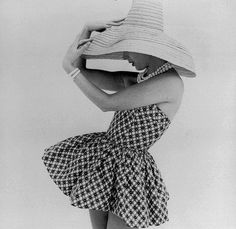 """""""Printed cotton sunsuit by Frederica, 1958."""" So stylishly cute! #vintage #summer #fashion #1950s #sunsuit"""