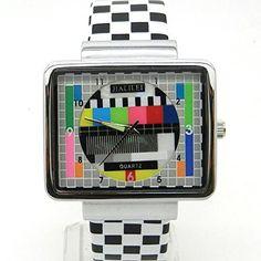 Weiße Quarz Armbanduhr mit Luxus Pu-Leder Armband Motiv T…