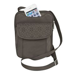 I already have this, and it's great for a minimalist travel purse. You don't even need a wallet because it might hamper accessibility.