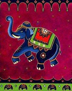 Royal Elephant Painting by Bindu Viswanathan