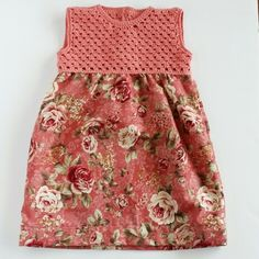 Crochet bodice dress for little girls