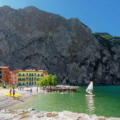 Windsurfing at Campione del Garda, Lago di Garda, Lombardia