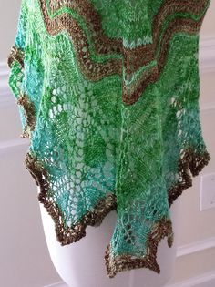 """Ravelry: Alberta Shawl made with ColorPurl """"Love Spark"""" Gradient"""