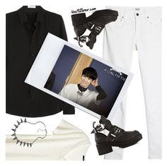 SHINee inspired by Key outfit by ioanathe92liner on Polyvore featuring moda, Yves Saint Laurent, H&M, MANGO, Jeffrey Campbell, Blu Bijoux, shinee and key