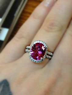 Tickle me pink! Love this ring by Gottlieb & Sons, available at Collins Diamonds!