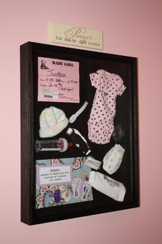 Keepsake Shadow Box!!! Place your baby's first items from the the hospital in a shadow box. Makes a wonderful keepsake to display and later pass down when you become a grandparent!!!