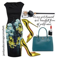 """""""Ideal Image"""" by jamilia-wallace ❤ liked on Polyvore featuring Karen Millen, Christian Louboutin, Bobbi Brown Cosmetics, Prada and NARS Cosmetics"""