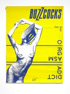 Buzzcocks Orgasm Addict poster by Malcolm Garrett Ai (image Linder Sterling)