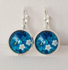Emotional Blue Garden Earrings in Silver by DianaJewelryDesign, $11.50