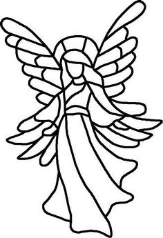 ★ Stained Glass Patterns for FREE ★ glass pattern 844 ★ Stained Glass Angel, Tiffany Stained Glass, Stained Glass Christmas, Faux Stained Glass, Stained Glass Designs, Stained Glass Patterns, Christmas Wood, Christmas Colors, Angel Drawing