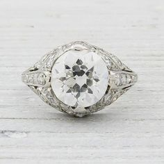 2.03 Carat Vintage Engagement Ring Erstwhile Jewelry Co.--vintage is key.