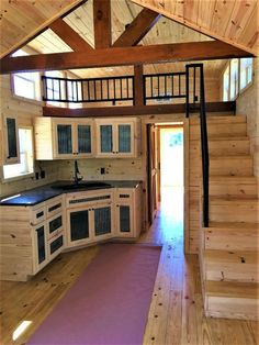 tiny house ideas ~ tiny house _ tiny house plans _ tiny house design _ tiny house living _ tiny house ideas _ tiny house on wheels _ tiny house bathroom _ tiny house interior Tyni House, Tiny House Cabin, Tiny House Living, Tiny House Design, Small House Plans, Tiny Cabin Plans, Living Room, House Floor, Cozy Living