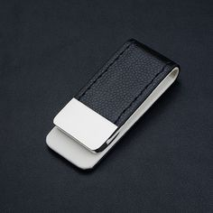 #wallet #style  Now available in our store: Onyx Leather Money Clip. Check it out here: http://www.ruggedstyles.com/products/onyx-leather-money-clip.