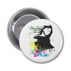 Girl and Colors. Pins