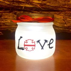 I finished designing and creating this Firefighter Love LED light tonight! It's now available in my shop. As always,  I am happy to customize it for you!