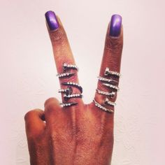 NAILED IT... Available in silver, gold, and gunmetal. #putaringonit