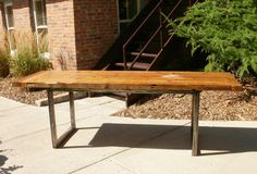rustic dining table from timeless material