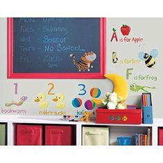 Lunarland EDUCATION STATION ABC 123 Wall Stickers Room Decor School Preschool Decals Kids -- Details can be found by clicking on the image.