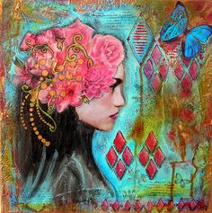 one of my favorites.... Anne, Bulles dorées ...the original mixed media inspirations for me...just beautiful