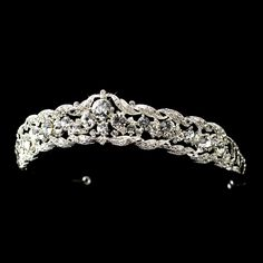 So pretty for your quinceanera! Silver Plated Rhinestone tiara