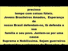 Jovens do Brasil leia este comunicado de der ouvidos e para o vosso bem