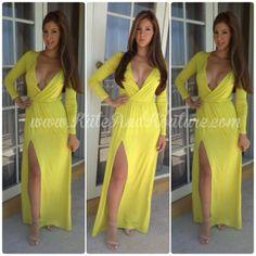 Long sleeve lycra maxi dress