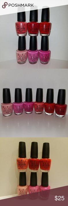 6x OPI Nail Polish SET OF 6 OPI NAIL POLISH  * The Thrill of Brazil #A16 * La Paz-itively Hot #A20 * Shorts Story #B86 * Fashion a Bow #F07 * Chic from Ears to Tail #M55 * I Eat Mainely Lobster #T30  All Full Size 0.5 fl oz (15ml) Brand New 100% Authentic opi Makeup